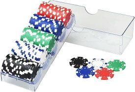 アビアント ゲーム用 チップセット プロ仕様 カジノゲーム ルーレット バカラ 本格的 重量感 ポーカーチップ 5色 100枚セット
