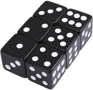 大きい デカい サイコロ ダイス 6面 数字 ゲーム道具 見やすい おもちゃ 25 mm(黒)