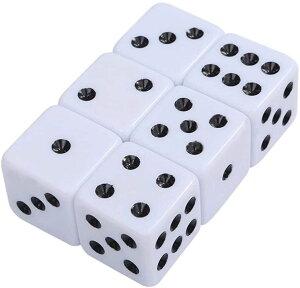 大きい デカい サイコロ ダイス 6面 数字 ゲーム道具 見やすい おもちゃ 25 mm(白)