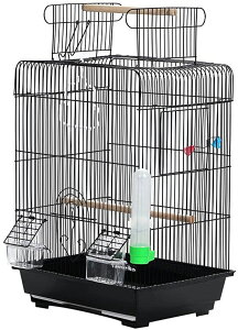 鳥籠 鳥かご とりかご バードゲージ バードケージ ルーフが開きます。 カラー3色 簡単 組み立て式 インコ セキセイインコ コザクラインコ 文鳥 ブンチョウ シナモン 十姉妹 カナリア レモン