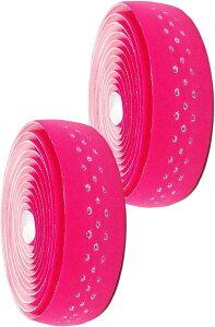 morytrade バーテープ ロードバイク グリップテープ クロスバイク 穴あき バーエンド(ピンク)