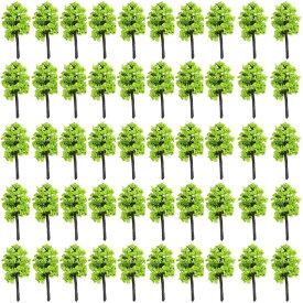 森林 Nゲージ ジオラマ 鉄道 建築 模型 用 樹木 風景 3.5cm 50本 若草(3.5cm, 50本, 若草)