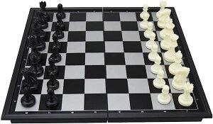 SC.bA 折りたたみ チェスボード ボードゲーム 対戦ゲーム 頭脳ゲーム 戦略ゲーム 脳トレ コンパクト ポータブル 持ち運び MDM