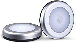 3個Shna ワイヤレス スマート センサーライト, キャビネット/キャビネット ライト/ワードローブ/誘導 ナイト 6 LED, 3ピース 8x1.8cm MDM(ホワイト, 8x1.8cm)