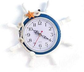 ウィスアイランド マリン 風 ウォール クロック 壁 掛け サーフ 地中海 西海岸 時計 インテリア MDM(ヒトデ)