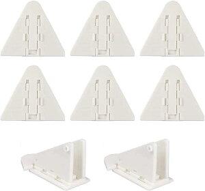 窓ロック 窓ストッパー 引き戸 施錠 8個セット ベビーガード ガラス窓 アルミサッシ 安全対策 防犯対策 ペットのいたずら・脱出防止などにも カラー ホワイト(白)
