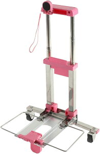 アララギ キャリーカート 折り畳み 超 コンパクト 軽量(ピンク)