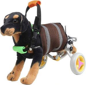 犬用 車いす ペット 歩行器 小型犬用 車椅子 ドックウォーカー 補助輪(グレー)