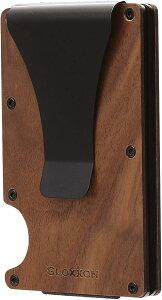 マネークリップ カードケース 軽量 大容量 コンパクト スキミング防止 自然木 カード入れ 木目 ギフト 磁気防止 クレジットカードケース メンズ レディース MDM(ウォルナット)