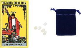 The earth crew タロットカードと浄化用 天然水晶セット ウェイト版 78枚 ライダータロット スタンダード