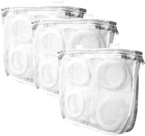 水切りネット 多目的洗濯ネット シューズ用 靴用洗濯ネット シューズ丸洗い ホワイト 3枚セット