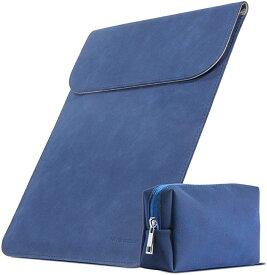 スリーブケース インナーケース macbook pro/air 13.3インチ ノートパソコン バッグ カバー マグネット開閉 薄型・軽量 ミニポーチ付き MDM(紺, macbook 13.3インチ)