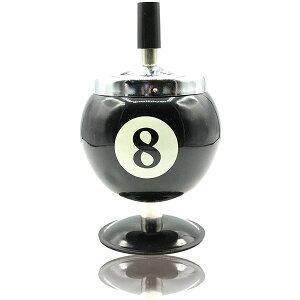 灰皿 ふた付き 屋外 ステンレス オシャレ 回転 卓上灰皿 ビリヤード 小サイズ(黒色, S)