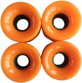 スケボー スケートボード ソフトウィール 直径6cmx幅4.5cm 4個セット MDM(オレンジ)