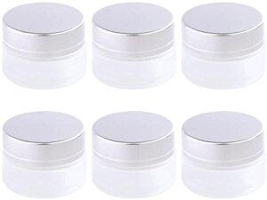 ハンドクリーム容器 遮光瓶 ワセリン 無水エタノール ガラス 白色 ローション 半透明 20g 6個(半透明 20g 6個)