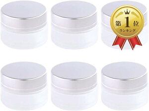 ハンドクリーム容器 遮光瓶 ワセリン 無水エタノール ガラス 白色 ローション 半透明 30g 6個(半透明 30g 6個)