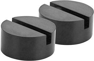 車用ジャッキパッド ジャッキゴム ブロックアダプター タイヤ交換 耐摩耗 スリップ防止(黒, 75mm)