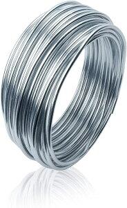 アルミ ワイヤー 3mm 10m 手芸 針金 クラフト アート 工作用 アルミ線(シルバー, 10m)