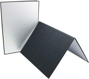 レフ版 反射板 ライティングツール 3色対応 コンパクト 持ち運び楽々 A4 2枚セット(A4 2枚セット)