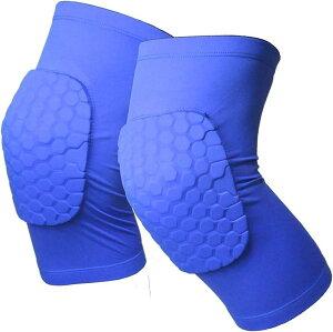 膝パッド ひざパッド 2枚セット 作業用 膝サポーター 膝当て スポーツ ニーパッド プロテクター 痛み 対策 衝撃吸収 両膝セット XL,(ブルー, XL)