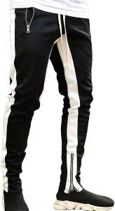 ルクシア フィル スウェット パンツ スリム ジョガー トレーニングパンツ ジム フィットネス スポーツ ウェア(ブラック, 2XL)