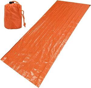 一人用寝袋 簡易寝袋 ヒートシート 防寒 保温 コンパクト 軽量 持ち運び 収納袋付属 キャンプ 登山