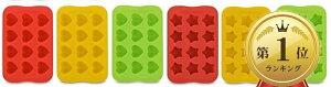 チョコレート型 シリコン トレイ 製氷皿 耐熱 手作り 製菓用具 粘土 星型 ハート型 12個 2枚セット