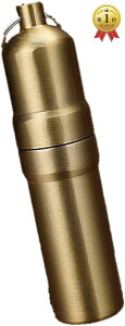 携帯 タバコケース ピルケース 防水ケース 薬ケース マッチ シガレットケース キーホルダー アルミ 03 ゴールド, 5本仕様(03 ゴールド, 5本仕様)