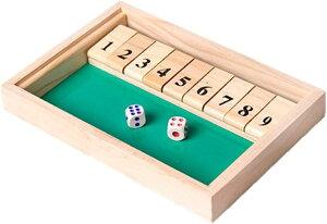 シャット・ザ・ボックス Shut The Box シャットザボックス ゲーム サイコロ パーティ ボード ダイス 数字 木製