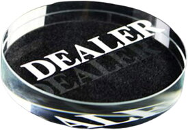 ディーラーボタン 人工水晶 DEALER クリア,(直径6cm)
