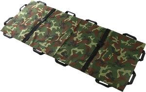折り畳み 担架 布担架 救急 救護 災害 防災 介護 緊急 患者移動用シート180x70cm 収納袋付き(迷彩)