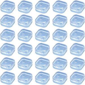 プラスチックケース 40個セット 小物ケース 小物収納 切手 パーツ 小分け(クリア)