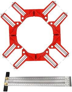 ステンレス製 木工 ケガキ ゲージ 直角 定規 スコヤ コーナー クランプ 溶接 クランプ4個のセット(クランプ 4個のセット)