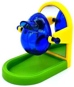 インコ オウム 小鳥 餌入れ おもちゃ 鏡 玩具 給餌器 ミラー(アーチ)