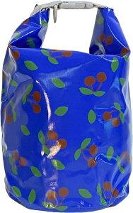 ドライバッグ スタッフバッグ さくらんぼ 防水バッグ プールバッグ ビーチバッグ かわいい おしゃれ レディース(ブルー)