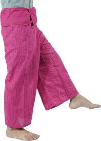 タイパンツ 紐仕様 ロングパンツ レディース ユニセックス エスニック アジア(ピンク, Free Size)