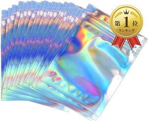 オーロラ チャック袋 100枚 セット 収納袋 厚手 バッグ 虹色 レインボー 9cmx12cm(9cmx12cm)