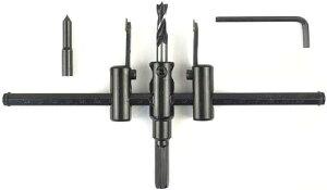 木工用 サークル カッター 替え刃 自在錐 調整可能(30〜200mm)