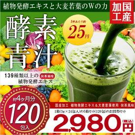 5個セット 国内工場生産 酵素青汁 24包×5個 120包入 4ヶ月分 美容健康 ダイエット 青汁 大麦若葉 ヘルシー