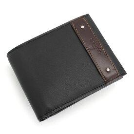 訳あり展示品箱なし ランバンコレクション 財布 二つ折り財布 黒 LANVINcollection 288634 b メンズ 紳士 【送料無料】