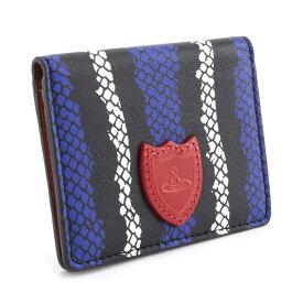 展示品箱なし ヴィヴィアンウエストウッド パスケース 定期入れ Vivienne Westwood 黒×ブルー 3618m662 レディース 婦人