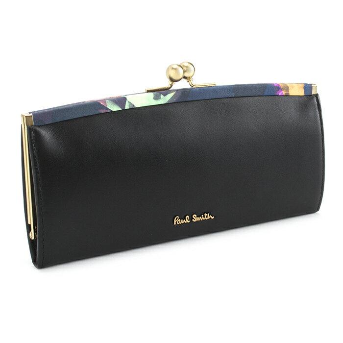ポールスミス 財布 長財布 がま口財布 Paul Smith ブラック pwu765-10 レディース 婦人