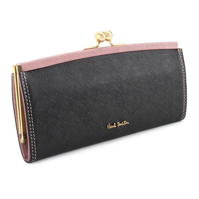 ポールスミス 財布 長財布 がま口財布 黒 Paul Smith pww805-10 レディース 婦人