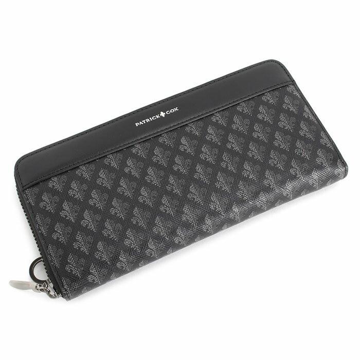 展示品箱なし パトリックコックス 財布 長財布 ラウンドファスナー 黒 PATRICK COX pxmw3dt2-10 メンズ 紳士