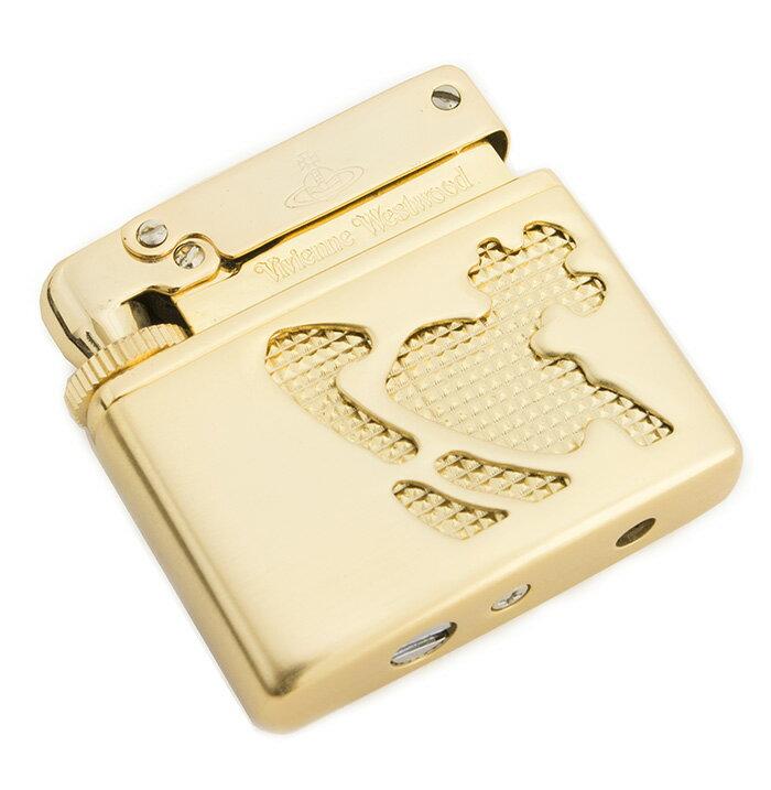 展示品箱なし ヴィヴィアンウエストウッド ライター ガスライター 薄ゴールド系 Vivienne Westwood 20160909-1 メンズ レディース