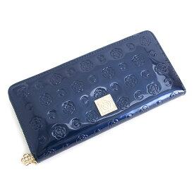 クレイサス 財布 長財布 ラウンドファスナー 紺(ネイビー) CLATHAS 184396-84 レディース 婦人