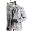 ティノラス スーツ スリーピース TENORAS 灰(グレー) te6064 メンズ 紳士