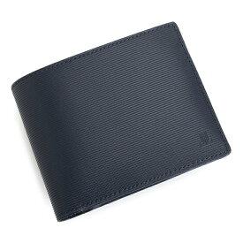 ランバンコレクション 財布 二つ折り財布 紺(ネイビー) LANVIN collection jlmw2ls2-30 メンズ 紳士 【送料無料】