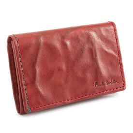 ポールスミス 名刺入れ カードケース 赤(レッド) Paul Smith psu583-20 メンズ 紳士 【送料無料】