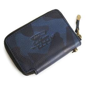 アクネオ マルチケース 小銭入れ コインケース カードケース ラウンドファスナー 青(ブルー) ACUNEO anmw4ac2-34 メンズ 紳士 【送料無料】